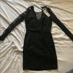 French connection black mini dress- NWT